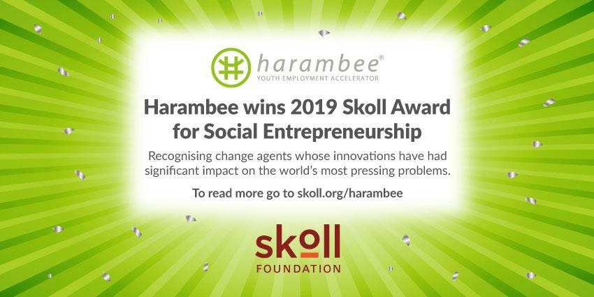 Harambee wins the 2019 Skoll Award for Social Entrepreneurship