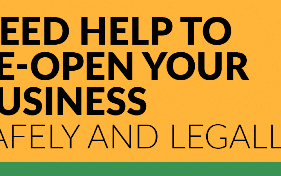 Return2Work: Help to re-open your business safely and legally